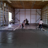 Putting concrete down 2