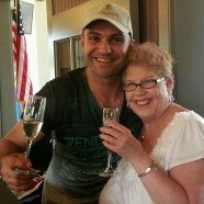 Winemaker Milan and guest Lorraine enjoying wine at Beat the Beaches Memorial Day BBQ